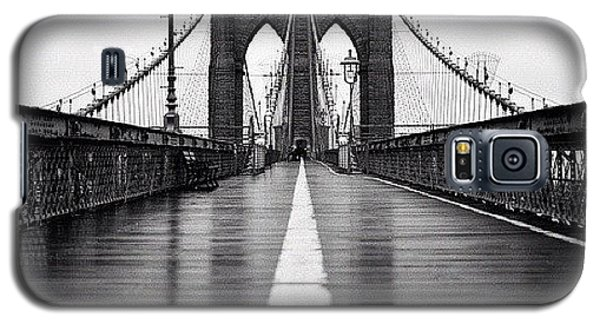 Blue Galaxy S5 Case - Brooklyn Bridge by Randy Lemoine