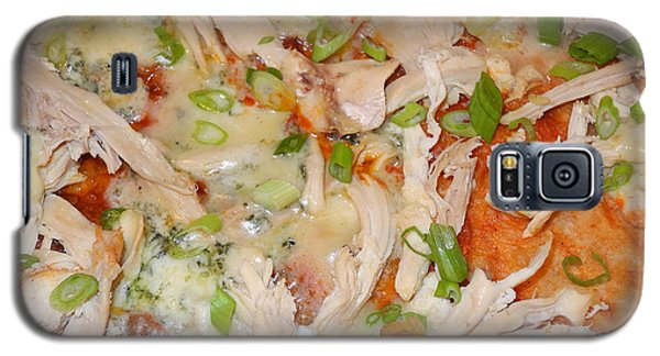 Galaxy S5 Case featuring the photograph Buffalo Chicken Pizza by Sami Martin