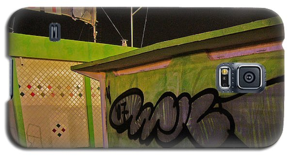 Galaxy S5 Case featuring the photograph Building 31 Rimini Beach Graffiti by Andy Prendy