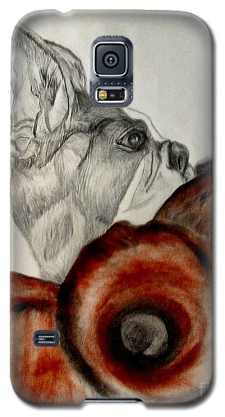 Galaxy S5 Case featuring the drawing Bundled In Blankets by Maria Urso