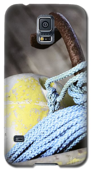 Galaxy S5 Case featuring the photograph Buoy Rope And Anchor by Agnieszka Kubica