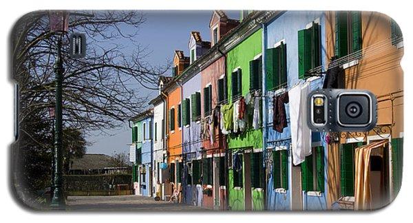 Galaxy S5 Case featuring the photograph Burano Venice by Raffaella Lunelli