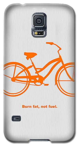 Bicycle Galaxy S5 Case - Burn Fat Not Fuel by Naxart Studio