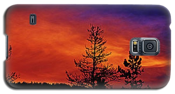 Galaxy S5 Case featuring the photograph Burning Sunrise by Janie Johnson