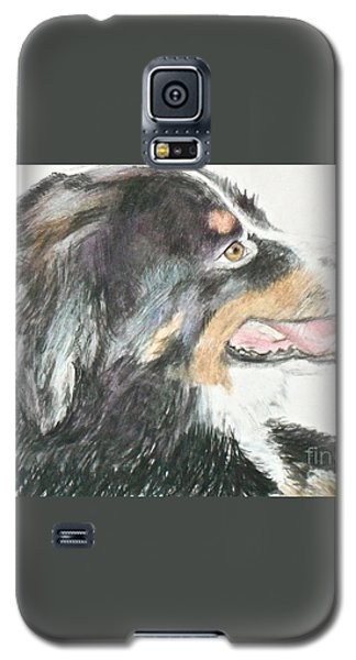 Galaxy S5 Case featuring the drawing Buttercup The Wonderdog by Beth Saffer