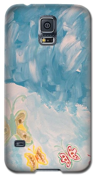 Galaxy S5 Case featuring the painting Butterfly Flight by Sonali Gangane