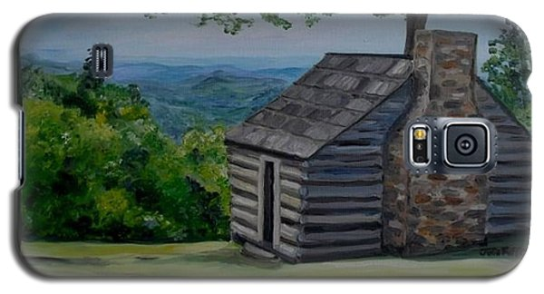 Galaxy S5 Case featuring the painting Cabin On The Blue Ridge Parkway In Va by Julie Brugh Riffey