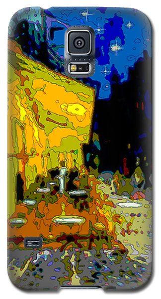 Galaxy S5 Case featuring the painting Cafe Vincent by Jann Paxton