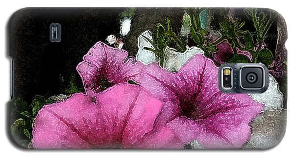 Galaxy S5 Case featuring the painting California Petunias by Karen Harrison