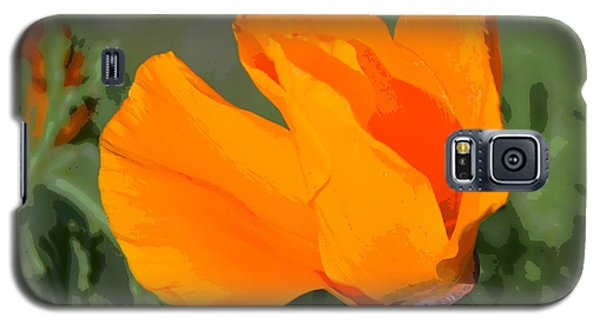 Galaxy S5 Case featuring the photograph California Poppy2 by Rima Biswas