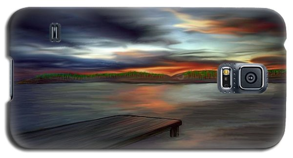 Galaxy S5 Case featuring the painting California Sky by Rand Herron