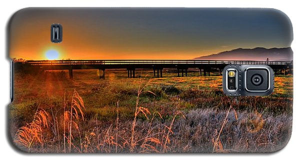 Galaxy S5 Case featuring the photograph California Sunset by Marta Cavazos-Hernandez