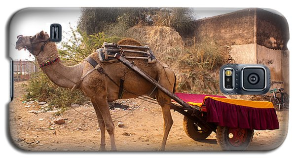Galaxy S5 Case featuring the photograph Camel Yoked To A Decorated Cart Meant For Carrying Passengers In India by Ashish Agarwal