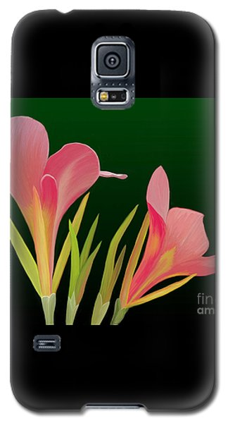Galaxy S5 Case featuring the painting Canna Lilly Whimsy by Rand Herron