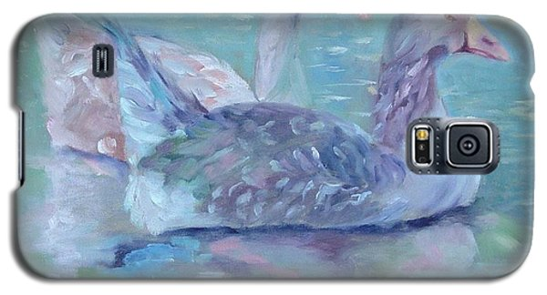 Galaxy S5 Case featuring the painting Cannonsburgh Geese by Carol Berning