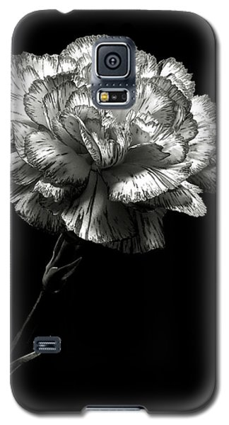 Carnation In Black And White Galaxy S5 Case