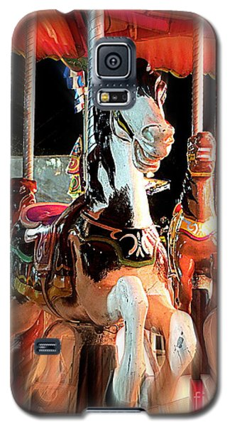 Galaxy S5 Case featuring the photograph Carousel Horses by Renee Trenholm