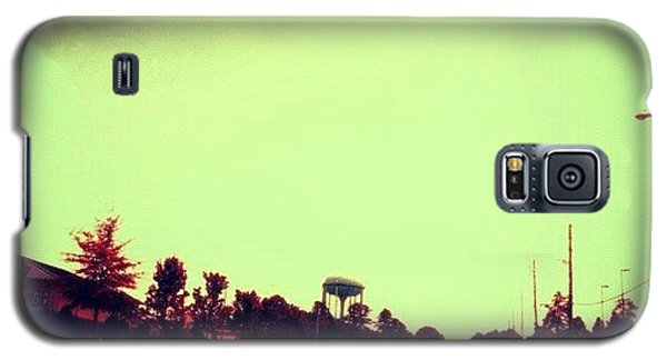 #cary #driving #sky #red #watertower Galaxy S5 Case by Katie Williams