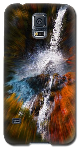 Galaxy S5 Case featuring the photograph Cascade Waterfall by Mick Anderson