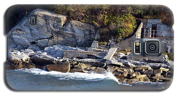 Galaxy S5 Case featuring the photograph Casco Bay Fort Area Scene by Maureen E Ritter