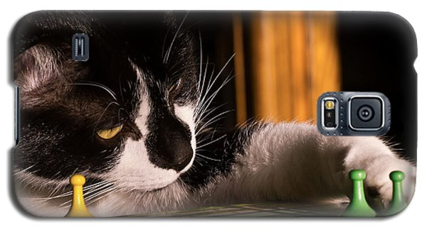 Cat Playing A Game Galaxy S5 Case