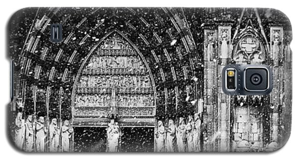 Galaxy S5 Case featuring the photograph Cathedral In The Snow Panorama by Andy Prendy