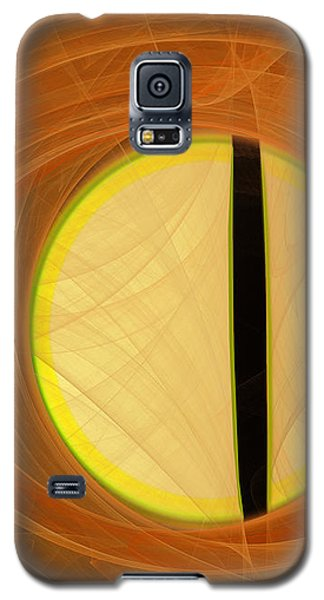Galaxy S5 Case featuring the digital art Cat's Eye by Victoria Harrington