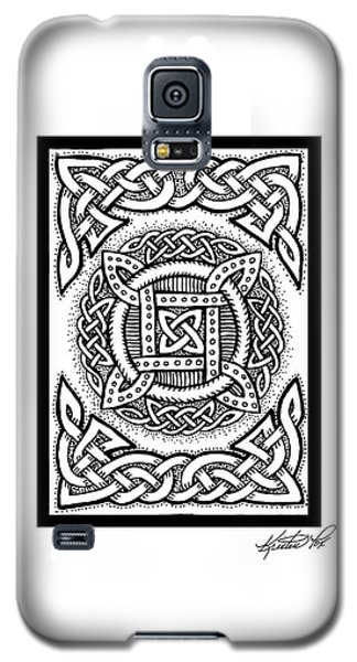 Celtic Four Square Circle Galaxy S5 Case by Kristen Fox