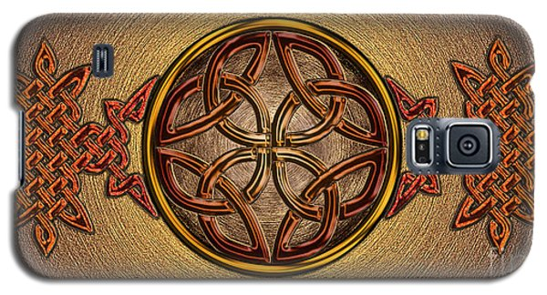 Galaxy S5 Case featuring the mixed media Celtic Knotwork Enamel by Kristen Fox