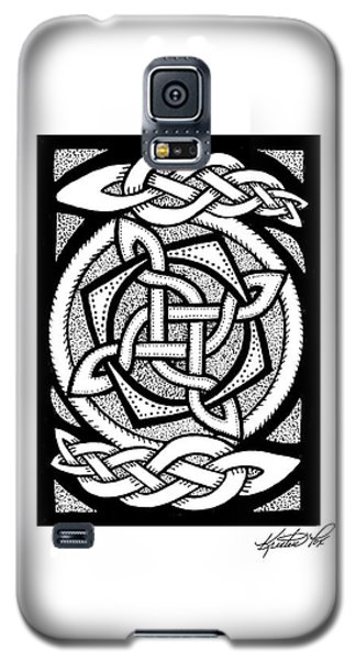 Celtic Knotwork Rotation Galaxy S5 Case by Kristen Fox