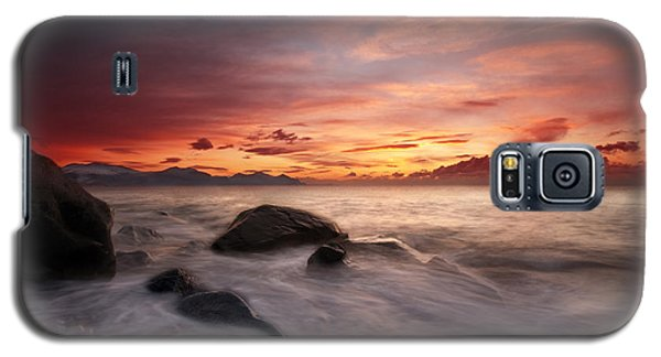 Galaxy S5 Case featuring the photograph Celtic Sunset by Beverly Cash