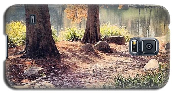 Place Galaxy S5 Case - Central Park Early Morning by Randy Lemoine