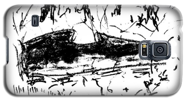 Galaxy S5 Case featuring the drawing Central Park Early Spring by Patrick Morgan