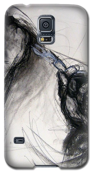 Galaxy S5 Case featuring the drawing Chain by Gabrielle Wilson-Sealy