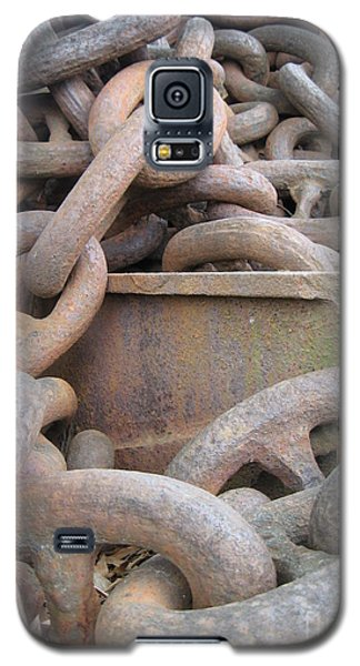 Galaxy S5 Case featuring the photograph Chain Gang by Nancy Dole McGuigan