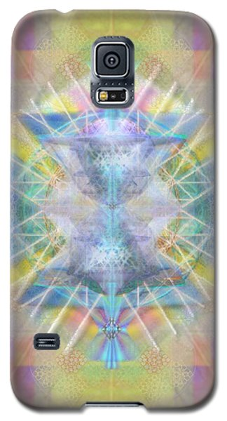 Galaxy S5 Case featuring the digital art Chalice Of Vortexes Chalicell Rings On Renaissance Back by Christopher Pringer