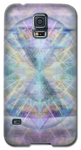 Galaxy S5 Case featuring the digital art Chalice Of Vorticspheres Of Color Shining Forth Over Tapestry by Christopher Pringer