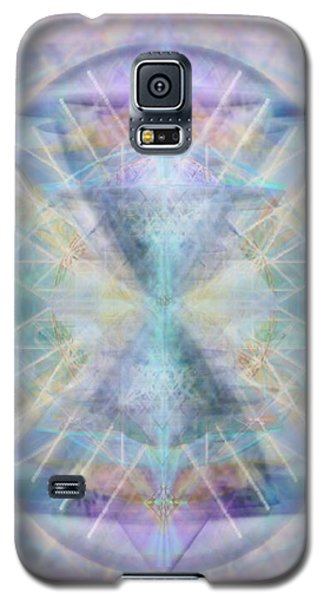 Chalice Of Vorticspheres Of Color Shining Forth Over Tapestry Galaxy S5 Case by Christopher Pringer