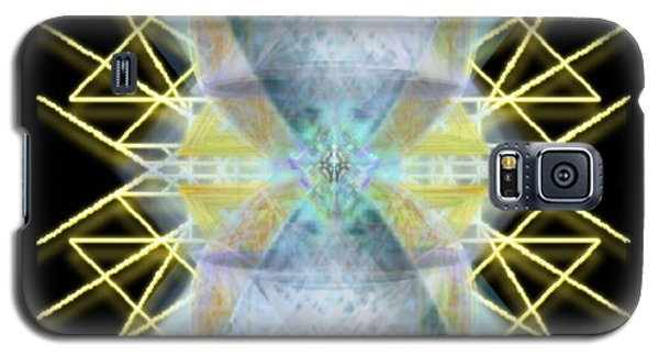 Galaxy S5 Case featuring the digital art Chalices From Pi Sphere Goldenray II by Christopher Pringer