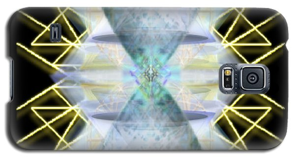 Galaxy S5 Case featuring the digital art Chalices From Pi Sphere Goldenray IIi by Christopher Pringer