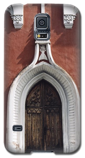 Galaxy S5 Case featuring the photograph Chapel Entrance In White And Brick Red by Agnieszka Kubica