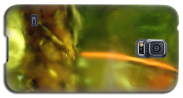 Galaxy S5 Case featuring the photograph Chartreuse Series Abstract Iv by Ginny Schmidt