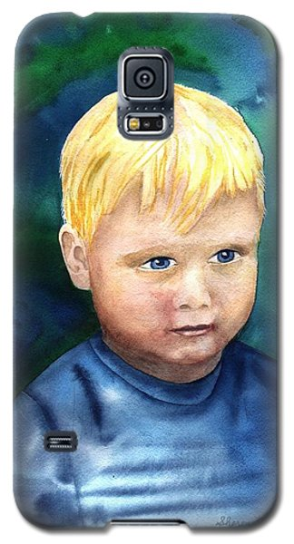Galaxy S5 Case featuring the painting Chayton by Sharon Mick