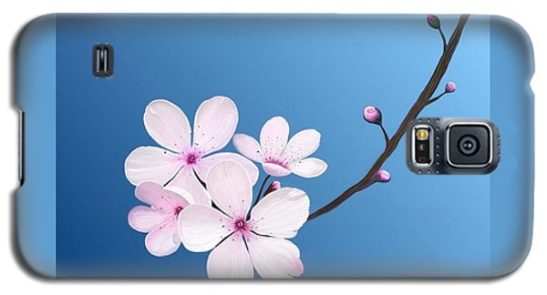 Galaxy S5 Case featuring the painting Cherry Blossoms by Rand Herron