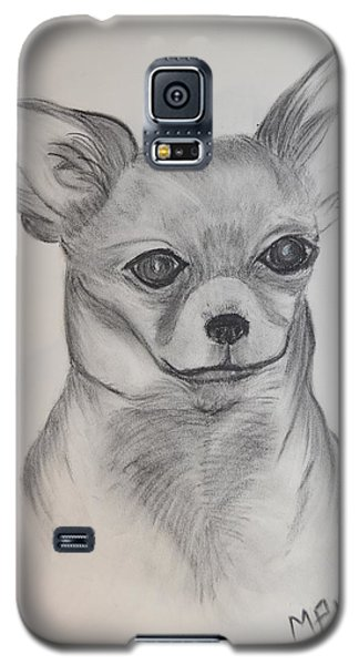Galaxy S5 Case featuring the drawing Chi Chi by Maria Urso