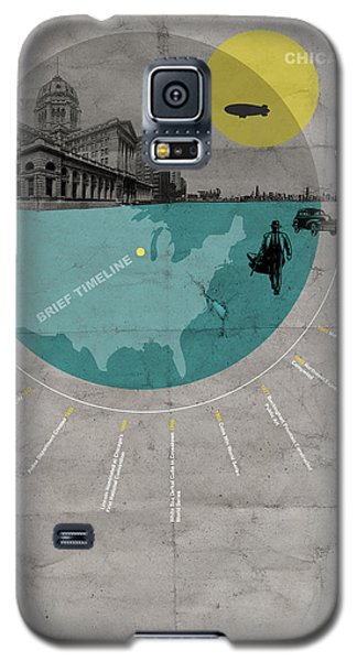 Sears Tower Galaxy S5 Case - Chicago Poster by Naxart Studio