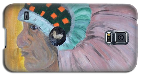 Galaxy S5 Case featuring the painting Chief by Maria Urso