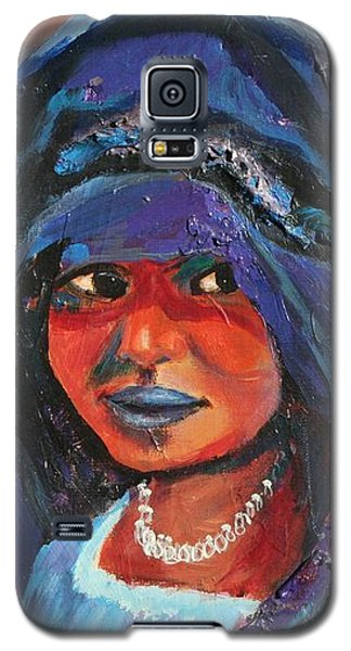 Galaxy S5 Case featuring the painting Child Bride Of The Sahara - Close Up by Avonelle Kelsey