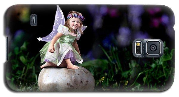 Child Fairy On Mushroom Galaxy S5 Case