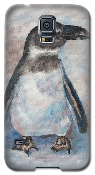 Galaxy S5 Case featuring the painting Chilly Little Penguin by Brenda Thour